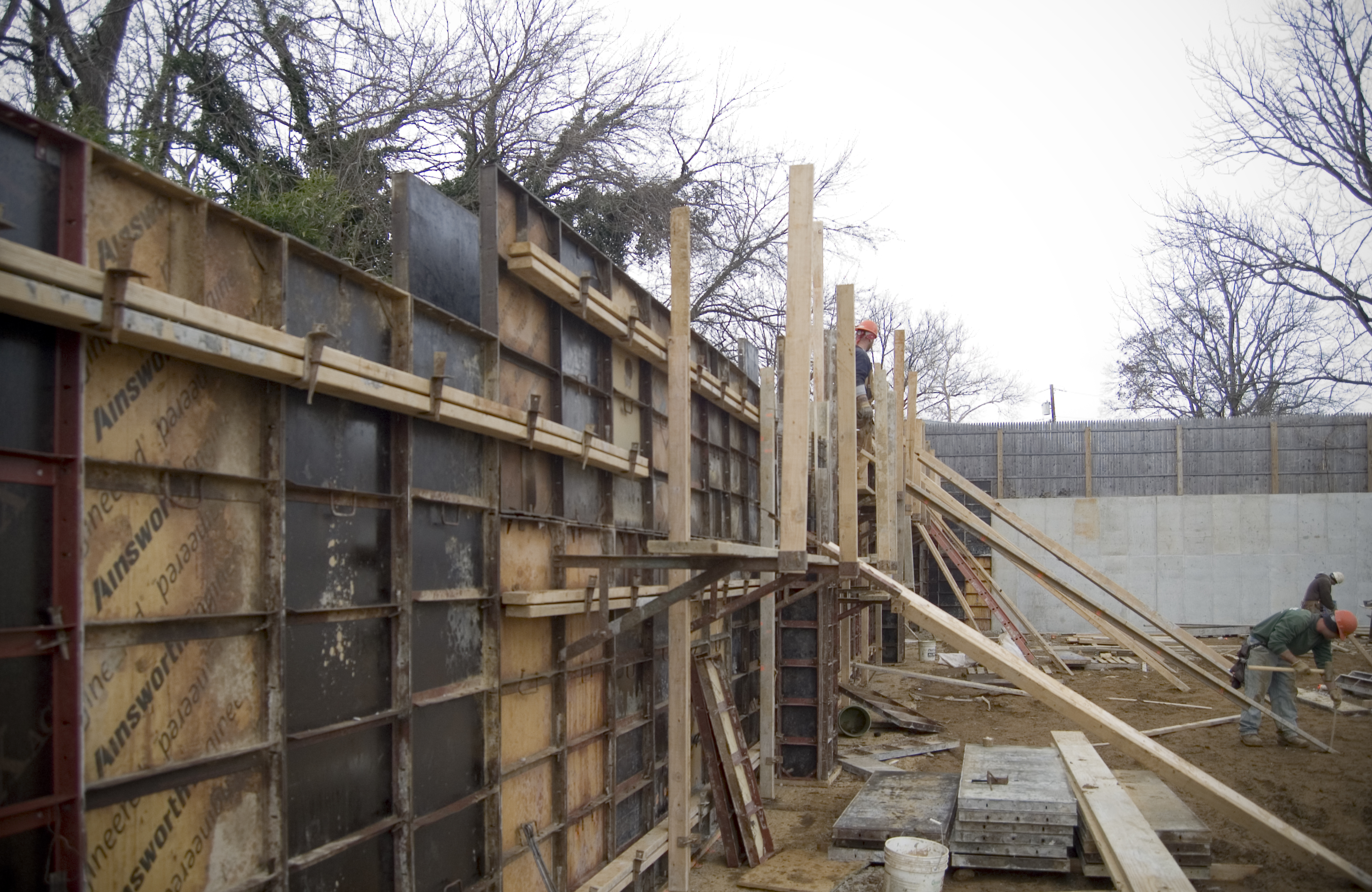 Concrete Retaining Wall On The Level