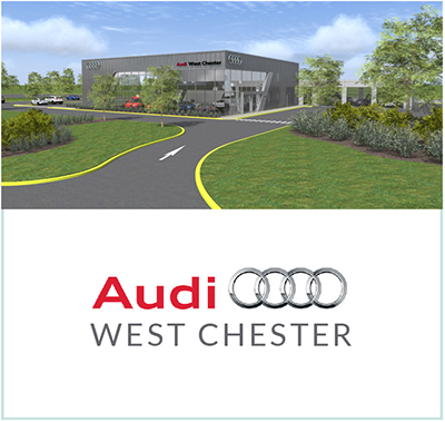 audi of west chester breaks ground | on the level