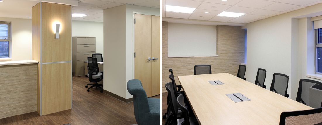 office flex space with conference room fitout construction