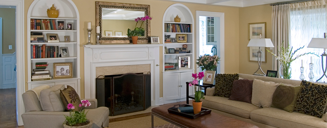 Transitional Family Room Interior Design Philadelphia