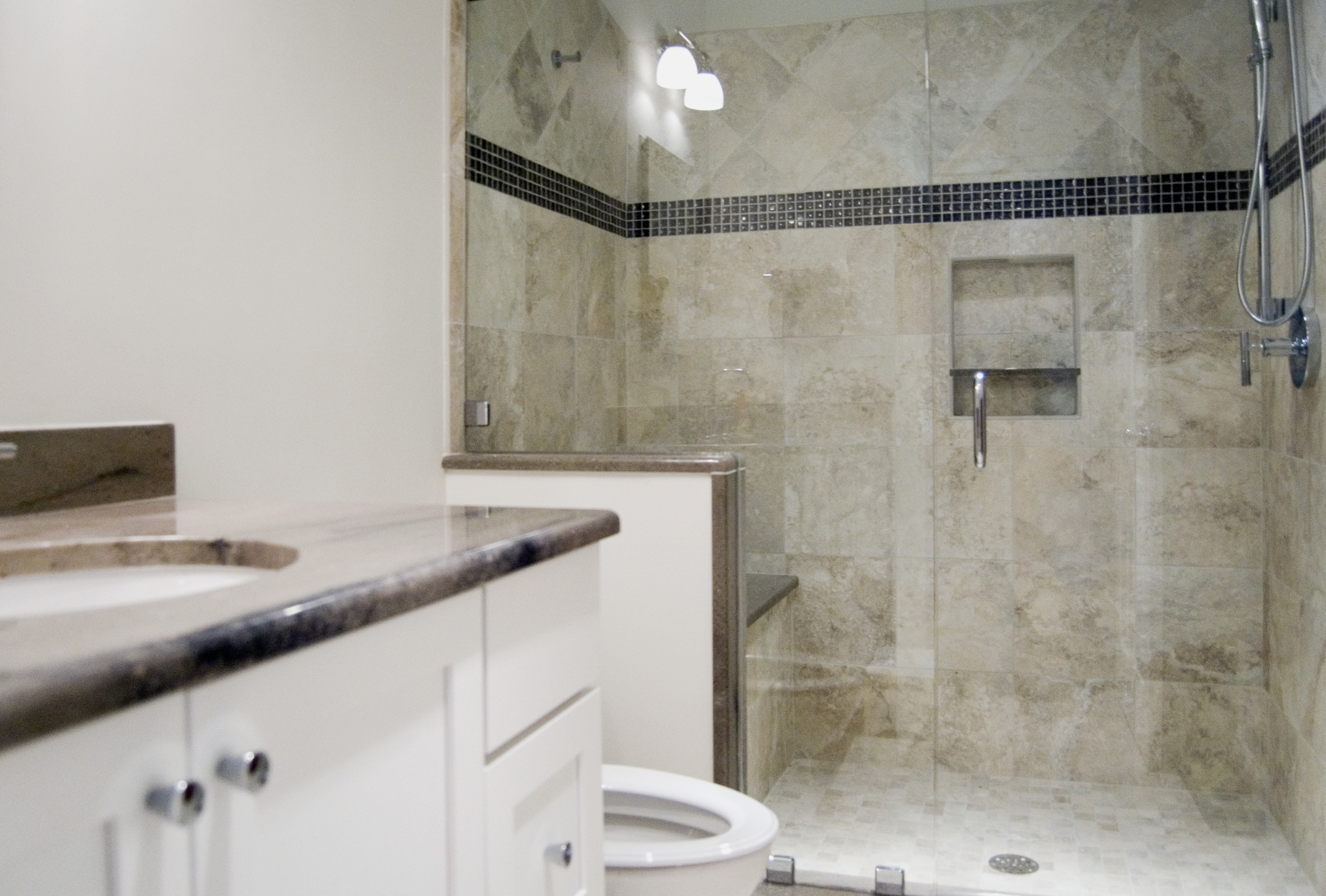 2nd Floor Bathroom Addition with Frameless Glass Shower in Wayne, PA