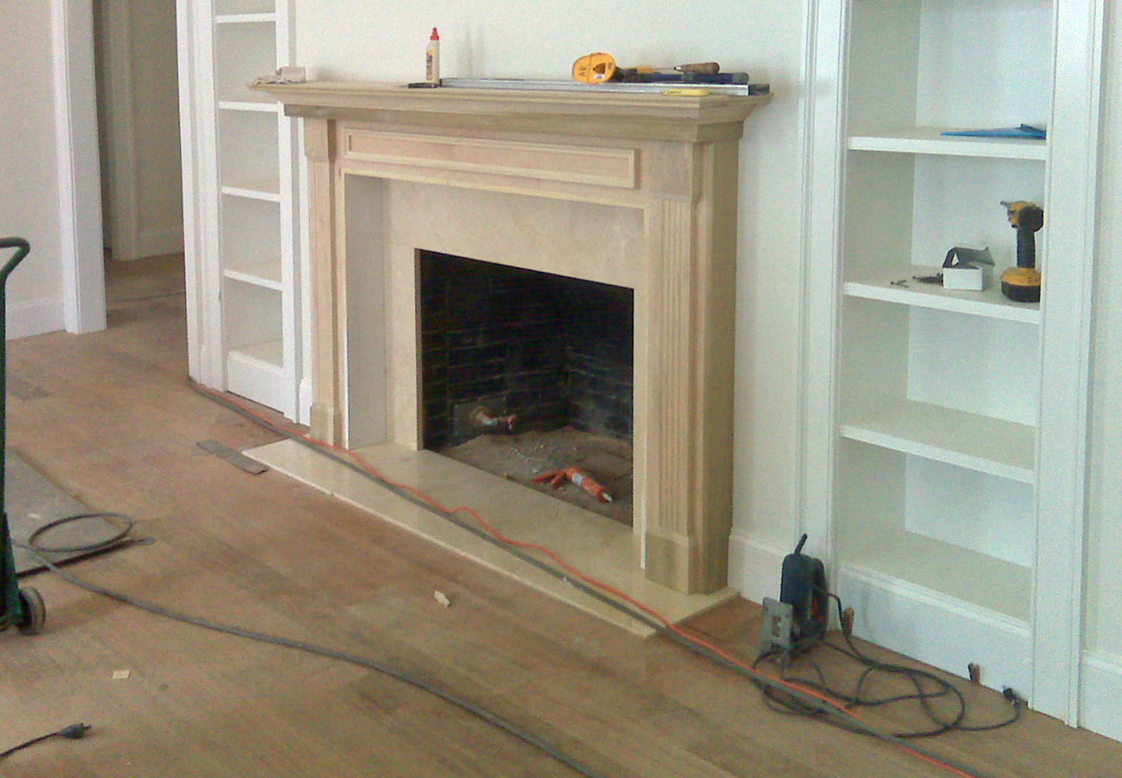 fireplace marble and mantle custom home construction wilmington de