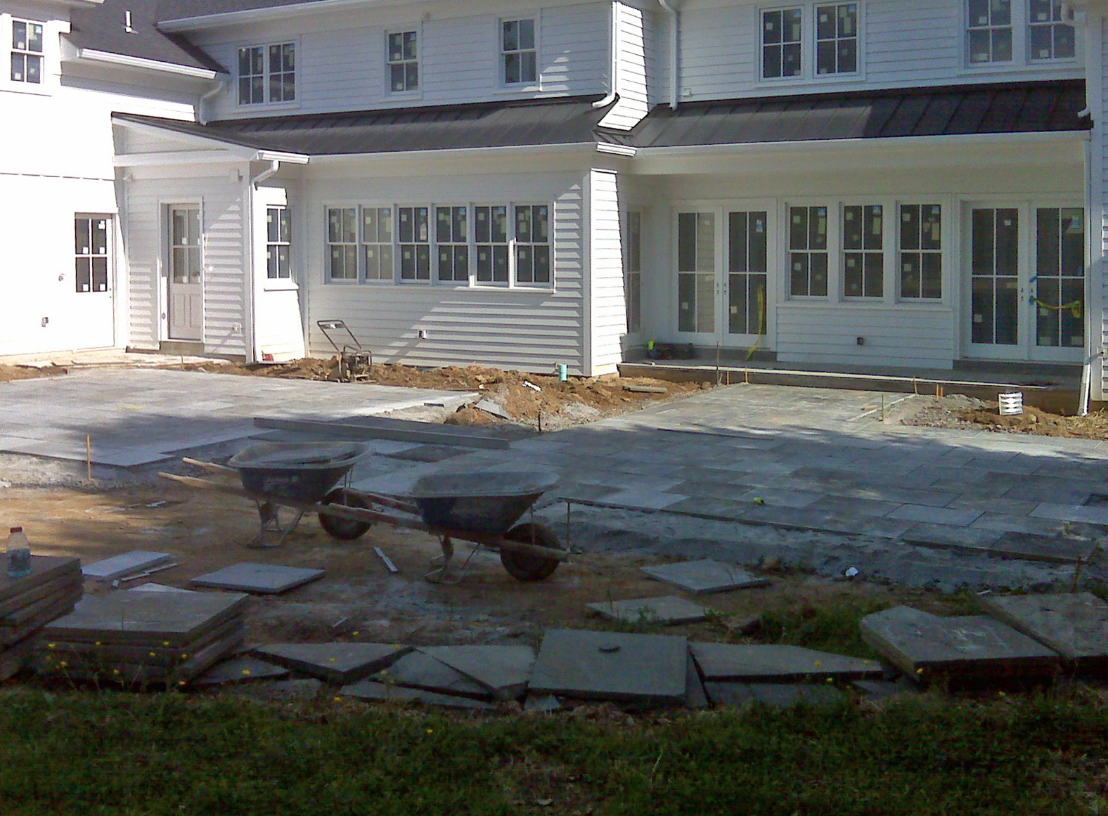New Home Construction Dry Laid Patio Greenville DE