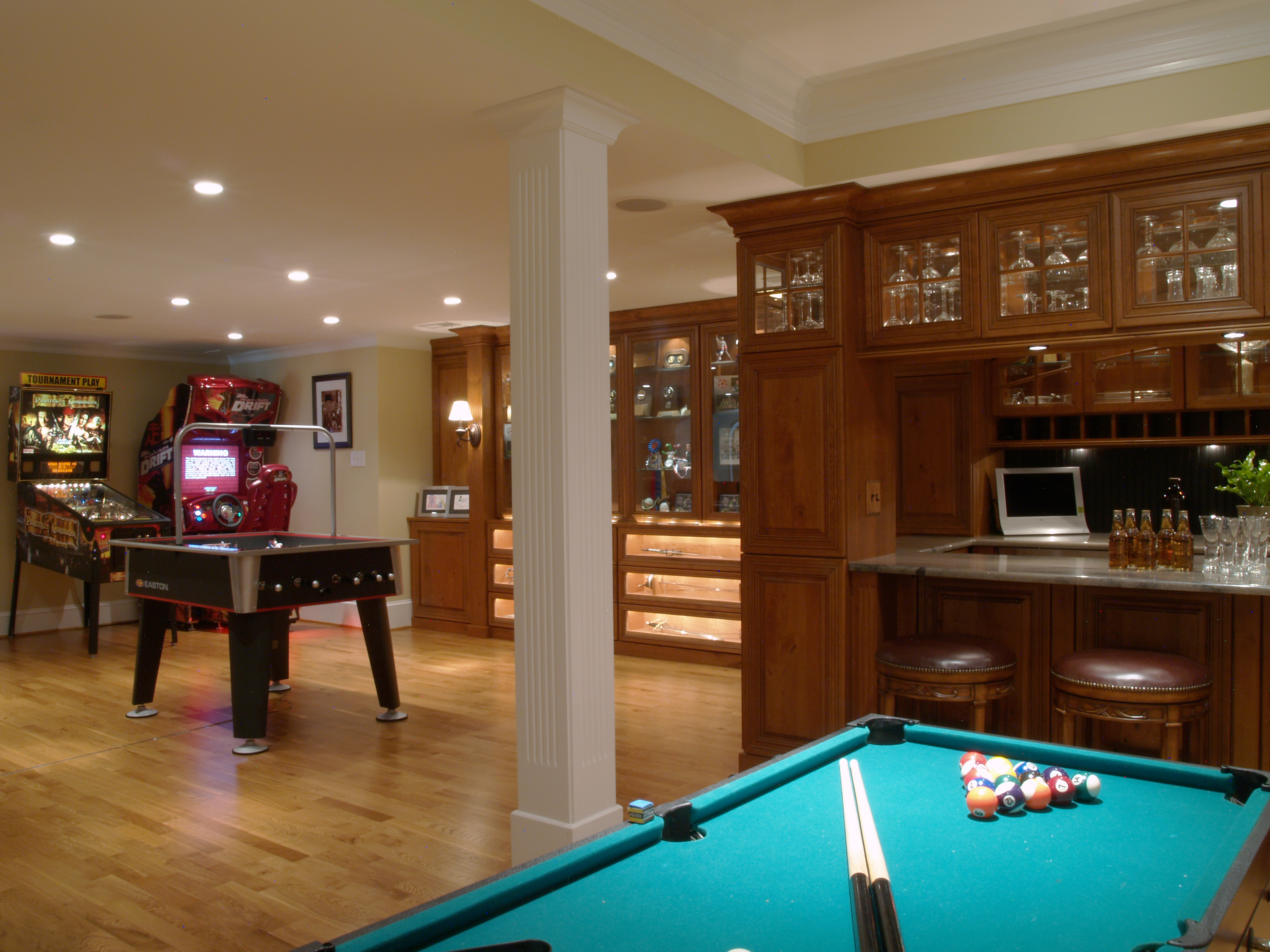 Man Cave Arcade Game Room Main Line Basement Renovation On The Level