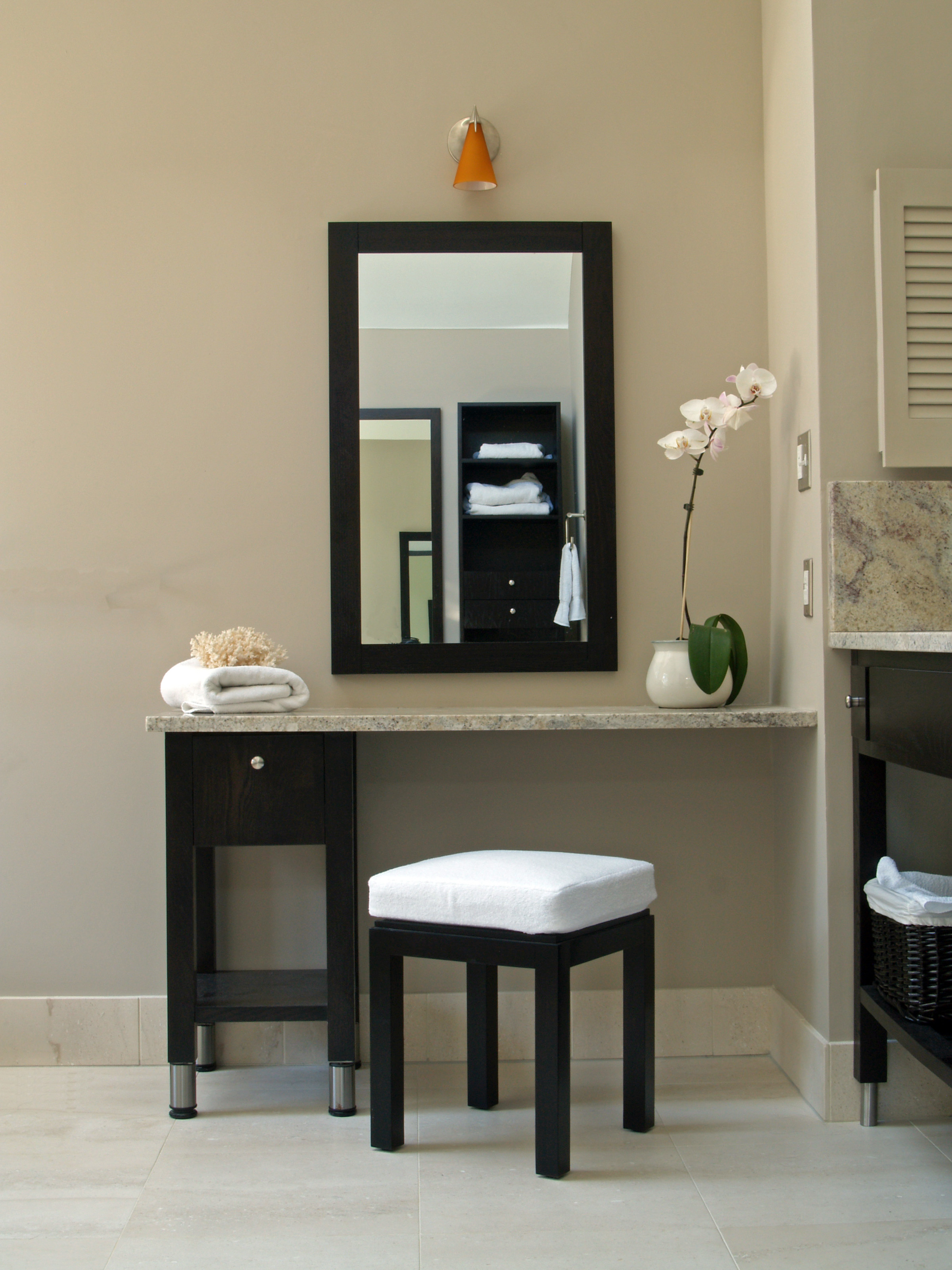 Hotel Style Bathroom Vanity Open Shelving Main Line