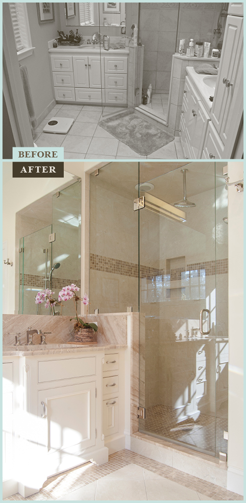 Master Bathroom Before And After before & after: master bath expansion in wynnewood – on the level