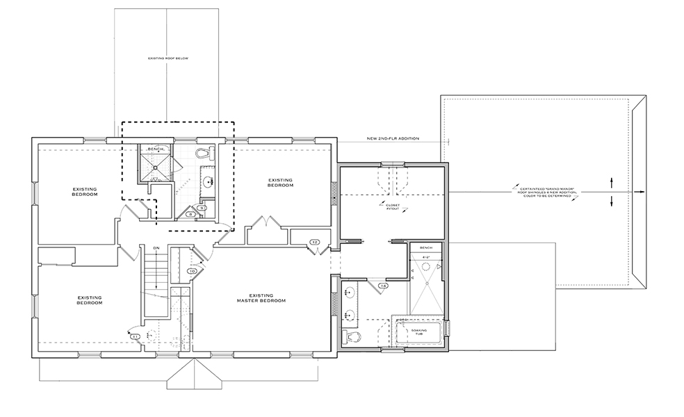 Project spotlight 2 story addition solves space dilemmas for Second floor addition floor plans