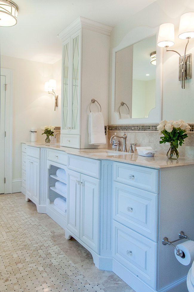 Bathroom Vanity Tower master bath renovation – on the level