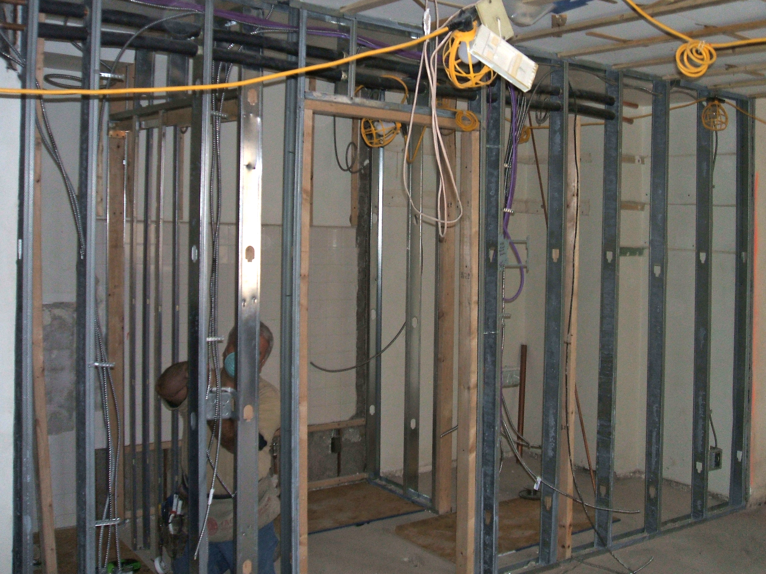 It s electric roughing in electric and plumbing for Gardner plumbing