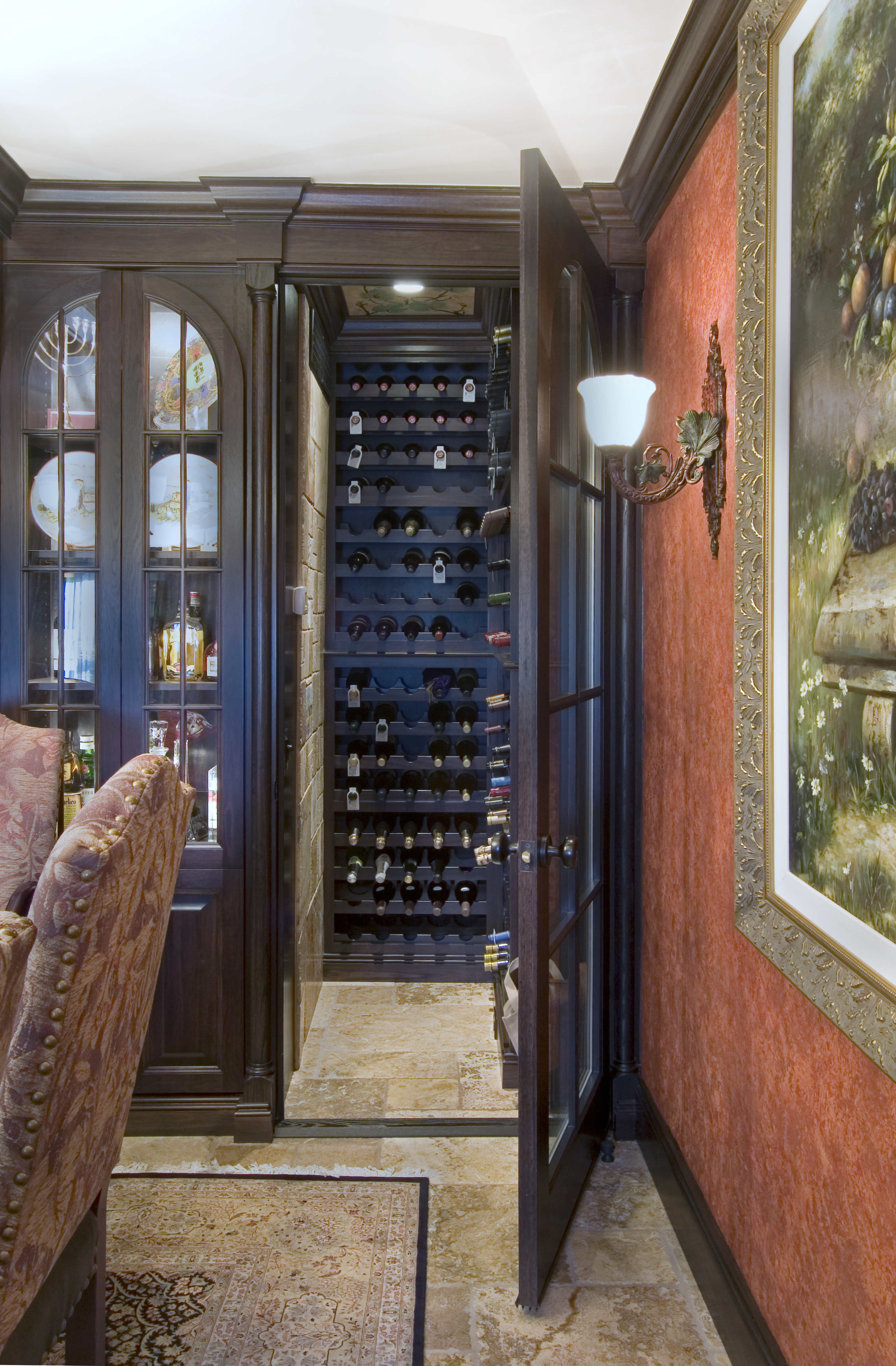 Wine Niche After Renovation Philadelphia Condo