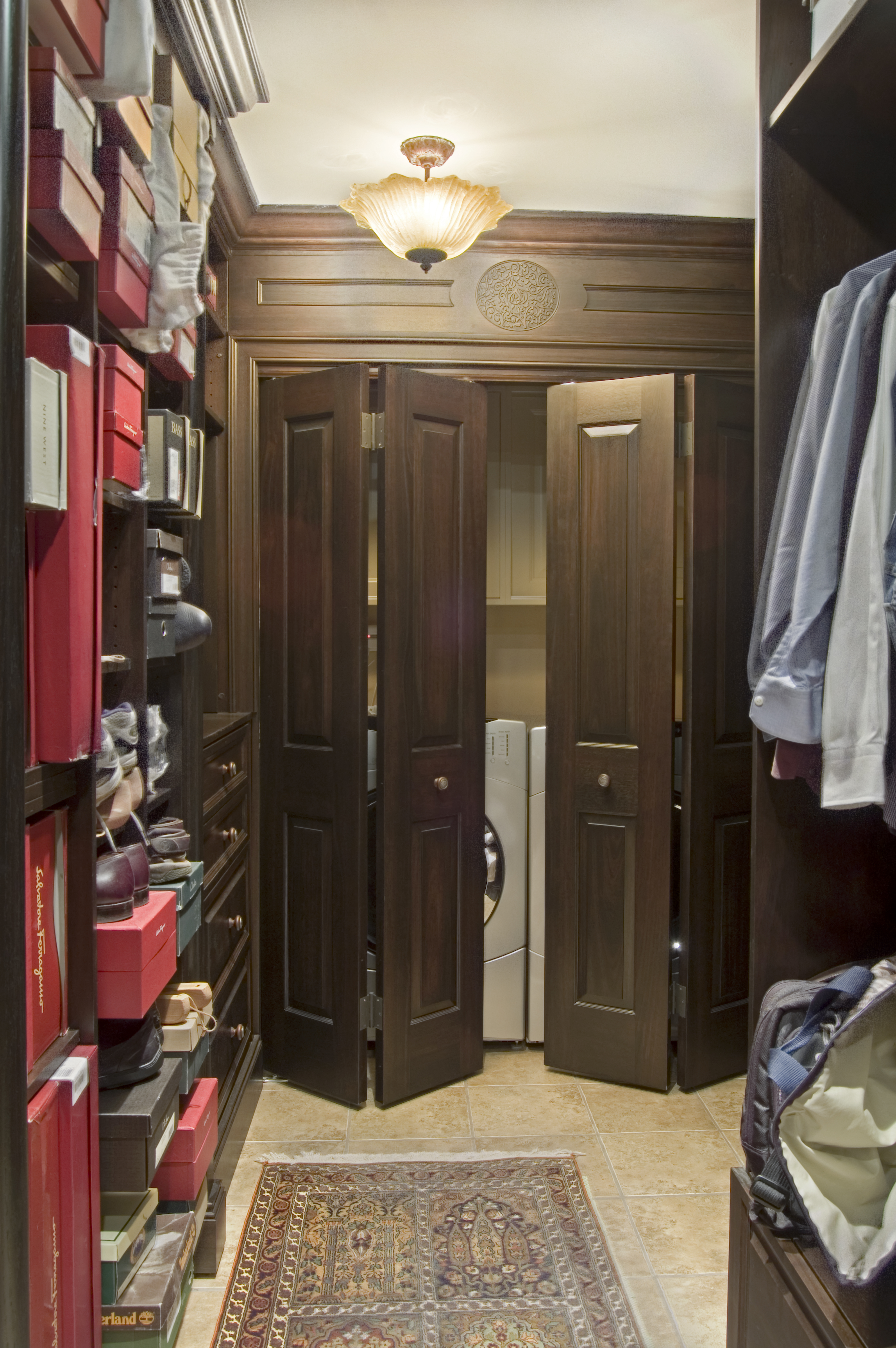 Laundry Room Organized Closet Custom Cabinetry Philadelphia