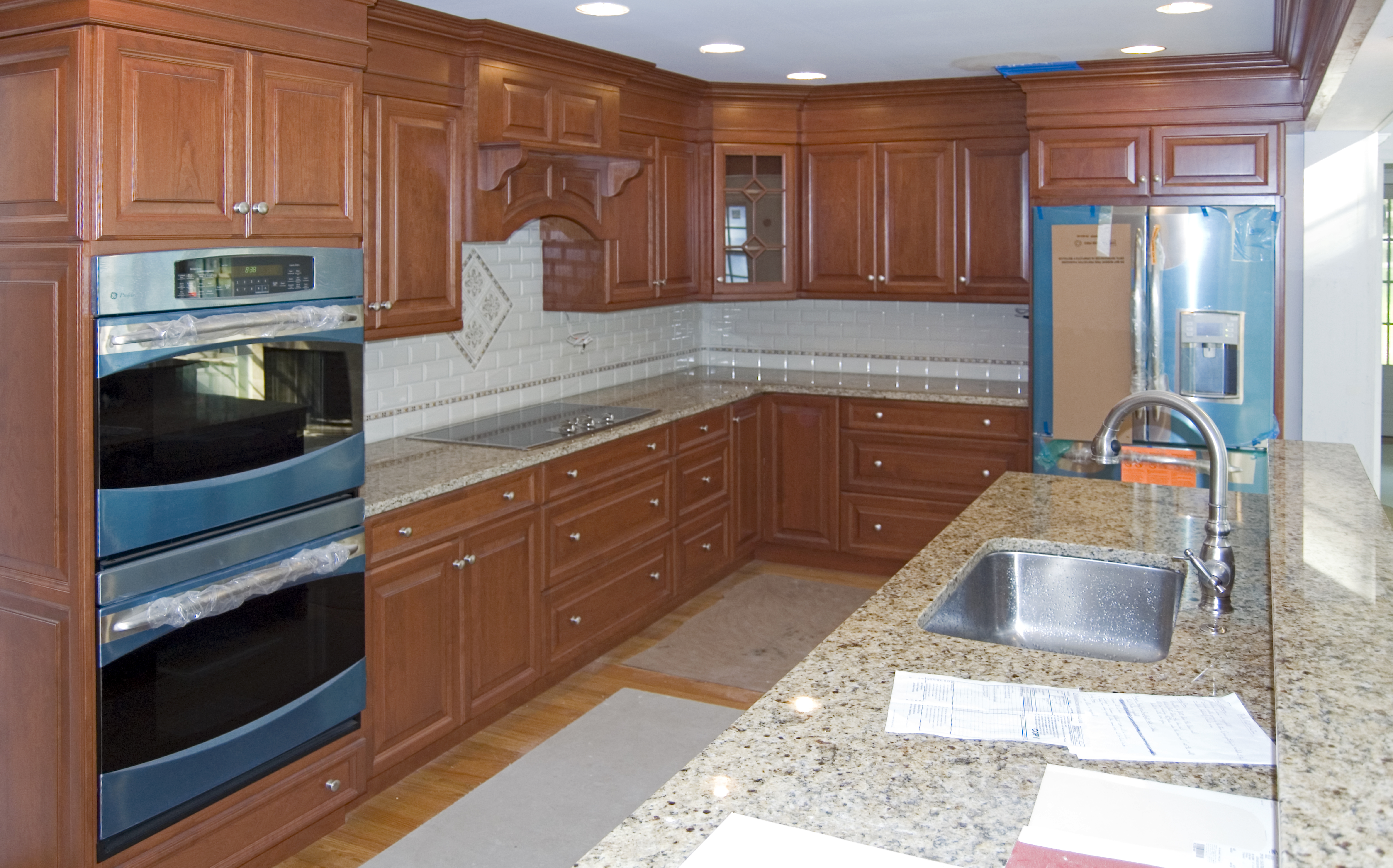 Kitchen After Renovation with Granite/Marble Countertops