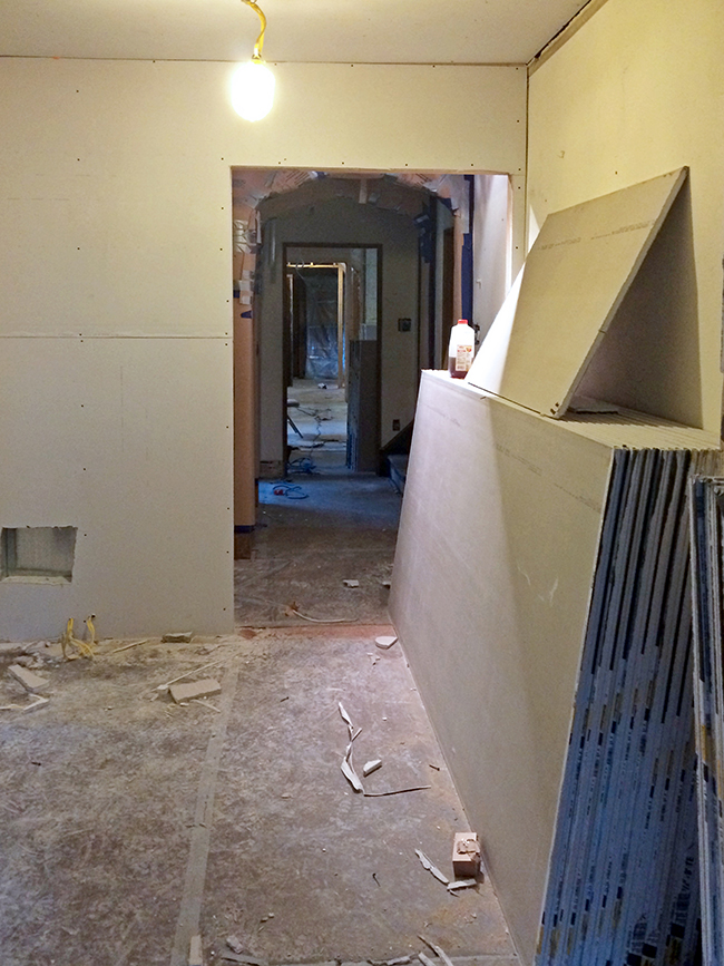 Master Suite Drywall Installation