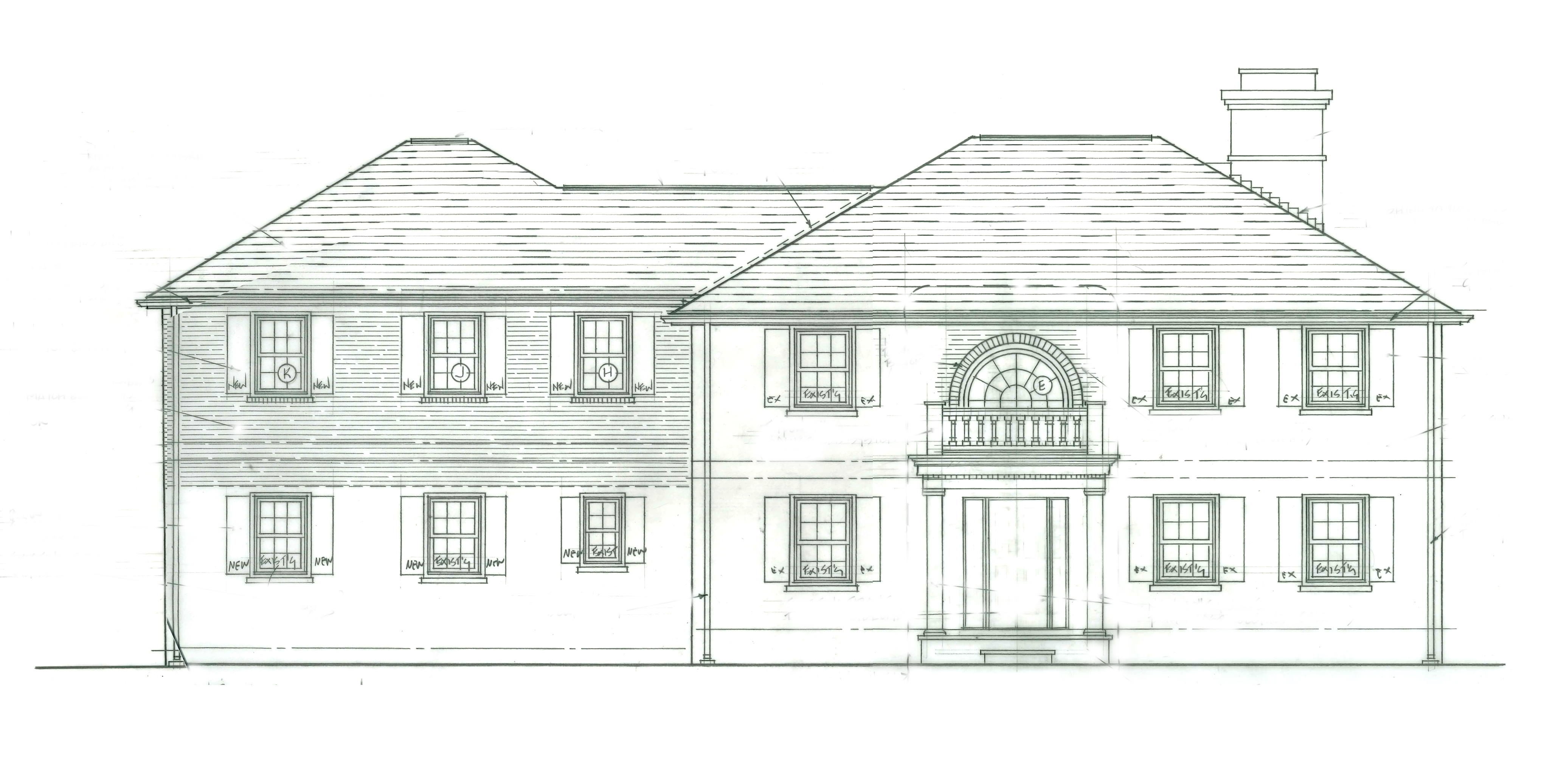 Front Elevation With Portico : Whitby drive renovation page home
