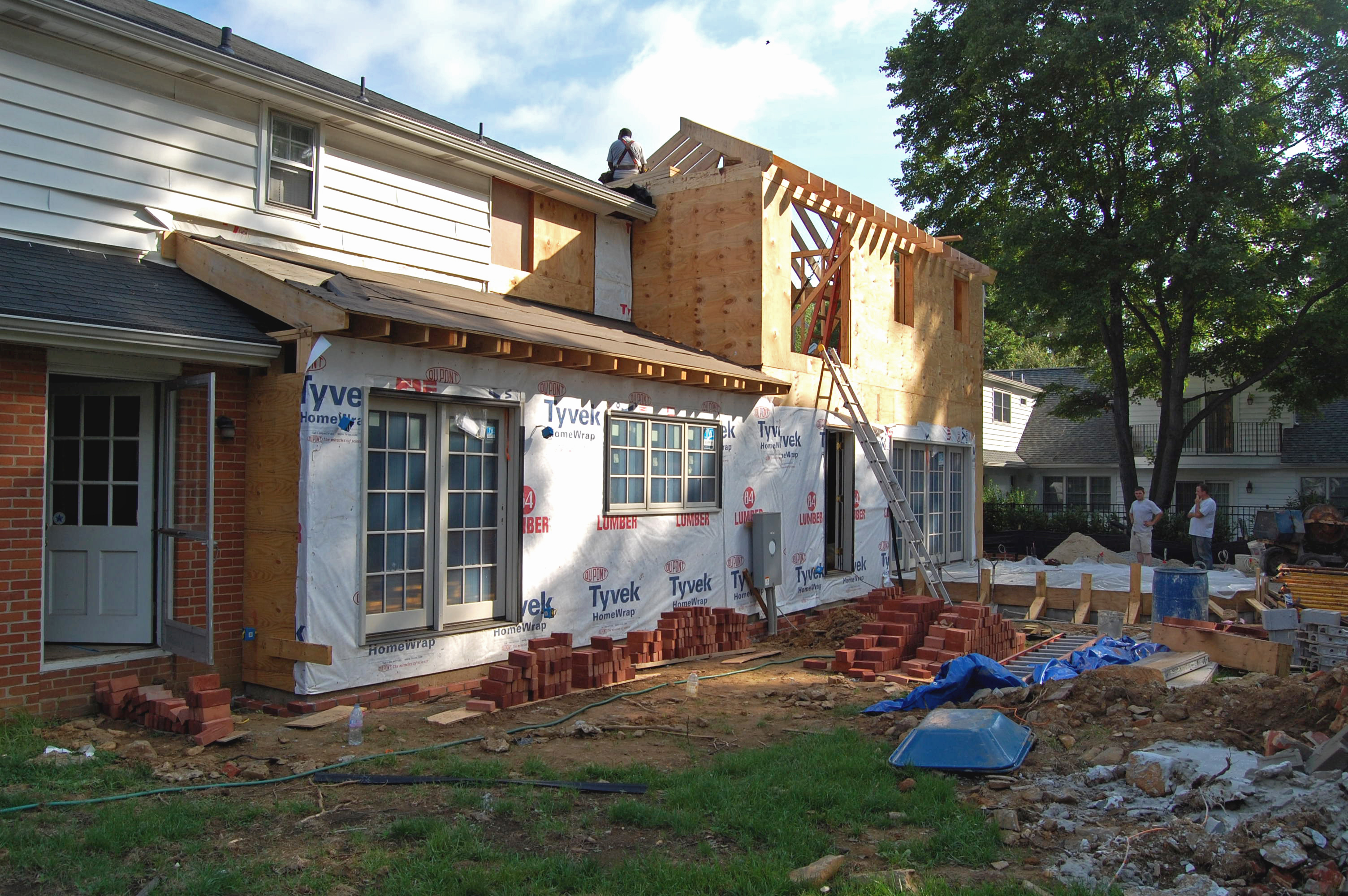 Addition over garage whitby drive renovation for Framing a second floor addition