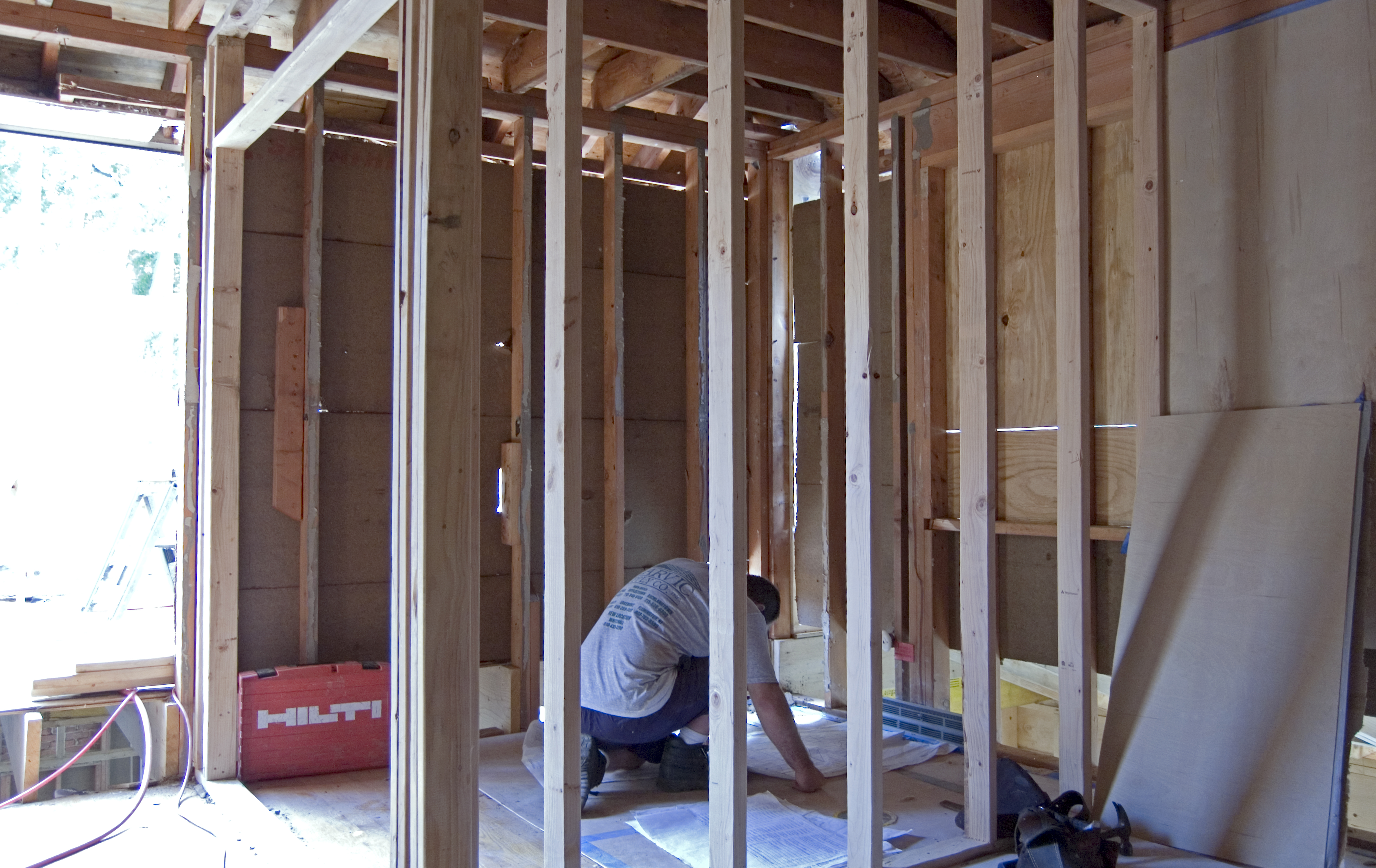 Framing Closets and Laundry – Whitby Drive Renovation