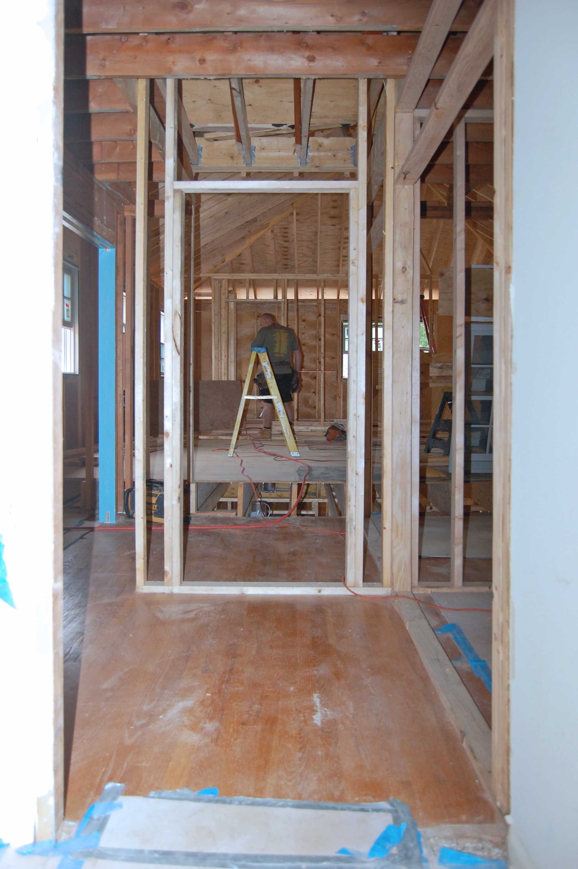 Master suite framing continues whitby drive renovation for Framing a second floor addition