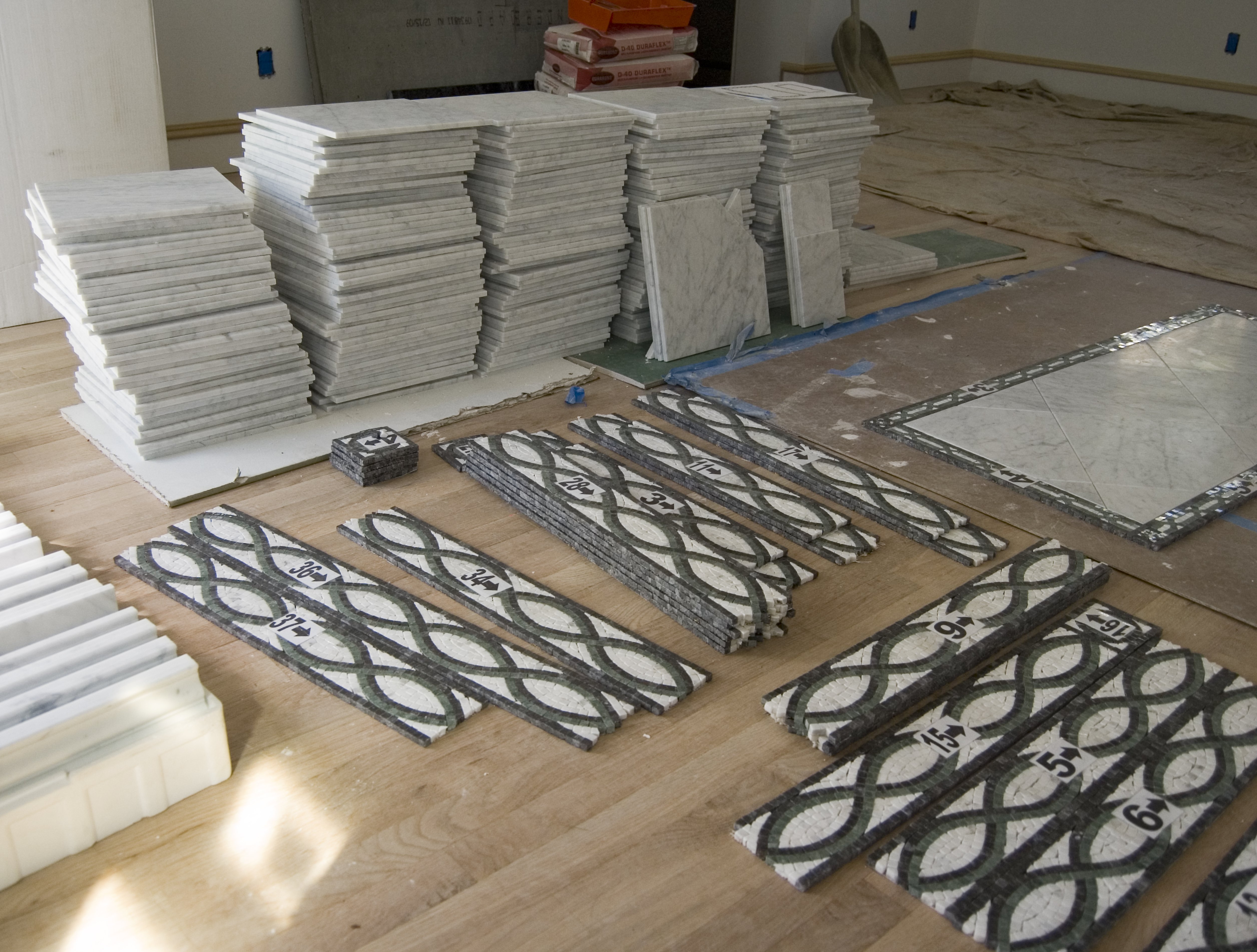 Listello whitby drive renovation marble and listello border tile install master bath renovation wilmington de dailygadgetfo Gallery